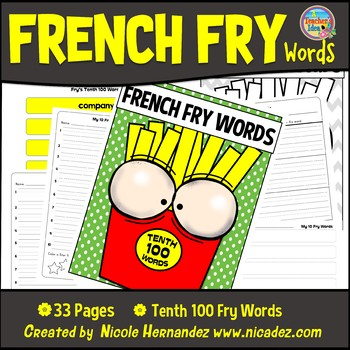 Fry Sight Words: Fry's 10th 100 Sight Words on French Fries