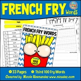 Fry Sight Words: Fry's 3rd 100 Sight Words on French Fries