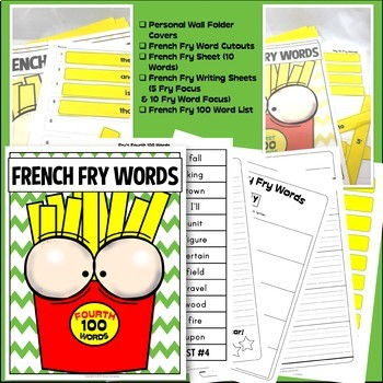 Fry Sight Words: Fry's 4th 100 Sight Words on French Fries