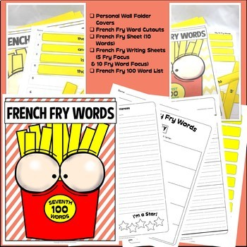 Fry Sight Words: Fry's 7th 100 Sight Words on French Fries