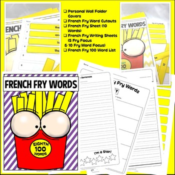 Fry Sight Words: Fry's 8th 100 Sight Words on French Fries