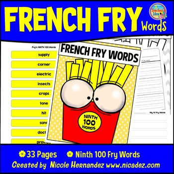 Fry Sight Words: Fry's 9th 100 Sight Words on French Fries