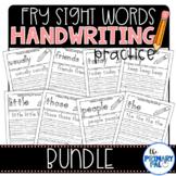 Fry Sight Words Handwriting Practice Bundle