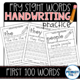 Handwriting Practice for the First 100 Fry Sight Words