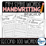 Handwriting Practice for the Second 100 Fry Sight Words