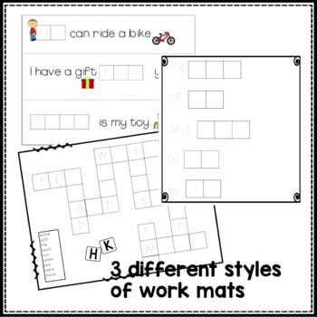 Letter Tile Word Work for Fry Sight Words: First 100 Words