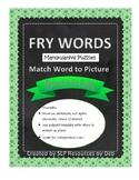 Fry Sight Words Manipulative Puzzle Match Ups