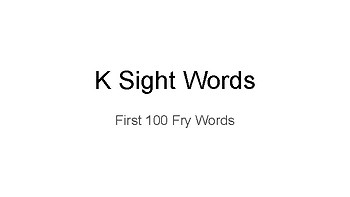 Fry Sight Words Monthly Checklist