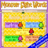 Halloween Fry Sight Words Kindergarten PowerPoint Game
