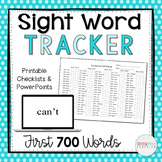 Fry Sight Words PowerPoint and Checkoff Sheets for the 1st