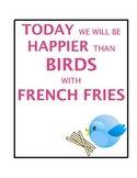 Fry Sight Words Practice Packet (Happier than a bird with
