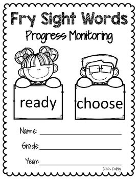 Fry Sight Words 600 to 1,000: Progress Monitoring Sheets and Flash Cards
