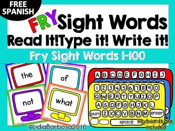 Fry Sight Words Read it! Type it! Write it!