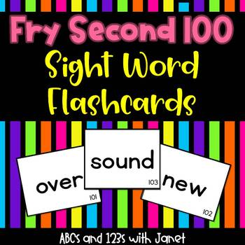 Fry Sight Words {Second 100}
