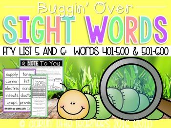 Fry Sight Words 401-600