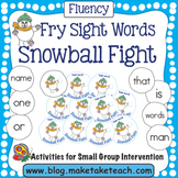 Fry Sight Words- Snowball Fight