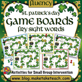 Fry Sight Words - St. Patrick's Day Game Boards