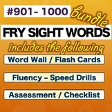 Fry Sight Words  -  TENTH 100 - Numbered 901-1000  * BUNDLE* NO PREP