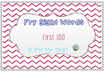 Fry Sight Words-  The First 100!  Perfect for Flash Cards & Practice!