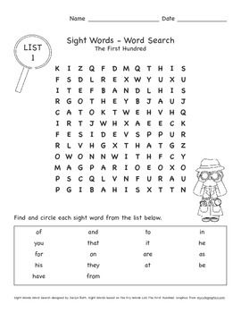 Fry Sight Words: The First Hundred, 1-25