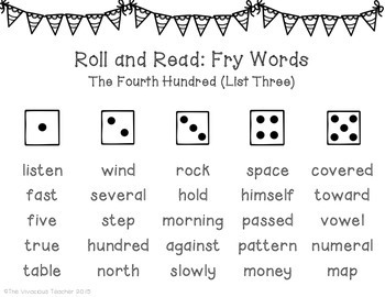Fry Sight Words (The Fourth Hundred Words)