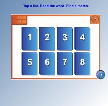 Fry Sight Words SMART Board Tile Match (First 100; List 2)