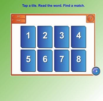Fry Sight Words SMART Board Tile Match (First 100; List 3)