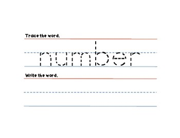 Fry Sight Words Tracing Cards 76-100