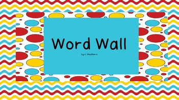 Fry Sight Words-Word Wall