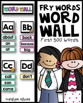 Fry Sight Words - Word Wall - 300 Words