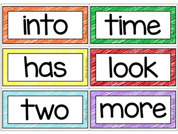Fry Sight Words / Word Wall Cards in Scribbles {EDITABLE}