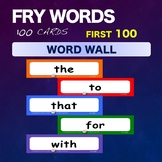 Fry Sight Words – Word Wall – Words 1-100