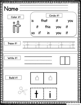 Fry Sight Words Worksheet Practice - The First 100 Words