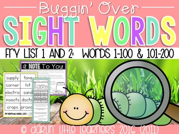 Fry Sight Words 1-200