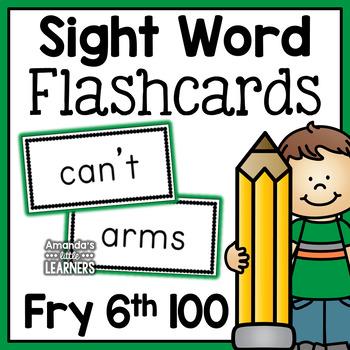 Fry Sixth Hundred Sight Word Flashcards
