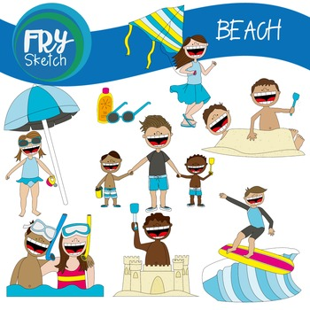 Fry Sketch - Beach Set
