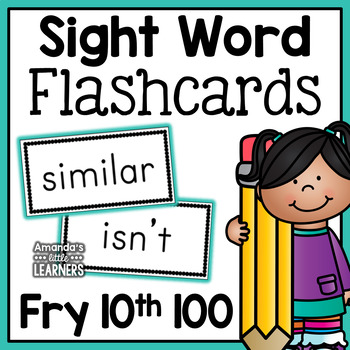 Fry Tenth Hundred Sight Word Flashcards