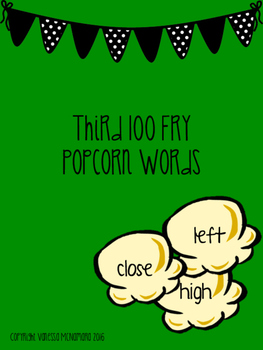 Fry Third 100 Popcorn Words