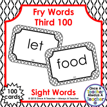 Fry Third 100 Sight Words - Flash Cards