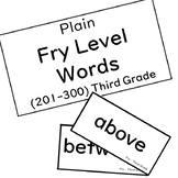 Fry Third Grade Flashcards