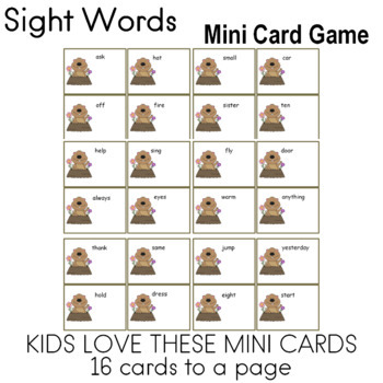 Third Hundred FRY Words Game