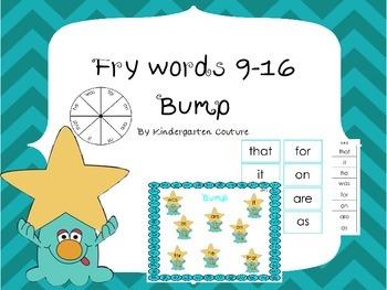 Fry Word 9-16 Bump
