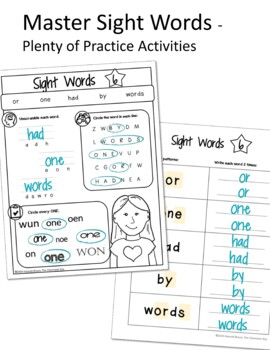 Fry Word Activities, First 100