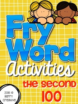 Fry Word Activities {The Second 100}