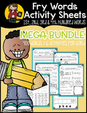 Fry Word Activity Sheets {1st, 2nd, 3rd, & 4th Hundred Words MEGA BUNDLE}