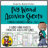 Fry Word Activity Sheets {Fourth Hundred Words - List 2} {
