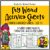 Fry Word Activity Sheets {Fourth Hundred Words - List 4} {