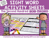 Fry Word Activity Sheets {Second Hundred Words}