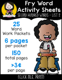 Fry Word Activity Sheets {Second Hundred Words - List 2} {Click File, Print}
