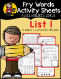 Fry Word Activity Sheets {Third Hundred Words - List 1} {C